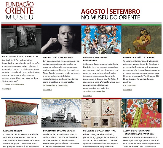 NEWSLETTER AGOSTO | SETEMBRO - MUSEU DO ORIENTE